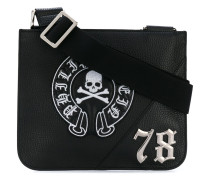 embroidered logo pouch messenger - men