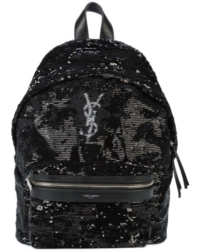 Saint Laurent Damen 'Monogram' Rucksack mit Pailletten