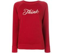 """Sweatshirt mit """"Think""""-Stickerei"""