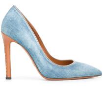 Pumps mit Jeansbesatz - women - Baumwolle/Leder