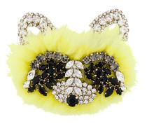 embellished bear brooch