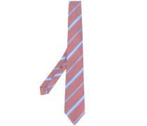 striped pattern tie - men - Seide
