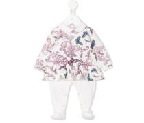 butterfly print dress set