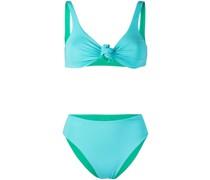 Zweifarbiger Bikini mit Knoten