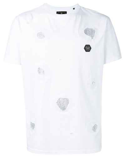 T-Shirt mit Kristallen
