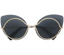 Cat-Eye-Sonnenbrille mit goldfarbenen Beschlägen