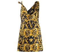 Asymmetrisches Kleid mit barockem Print