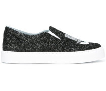 Glitzernde Slip-On-Sneakers - women