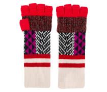Fingerlose Patchwork-Handschuhe
