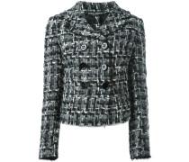 Doppelreihige Tweed-Jacke