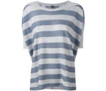 striped shortsleeved sweater - women