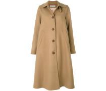 Langer Mantel mit Kellerfalte