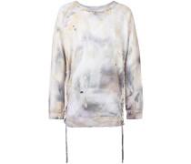 Batik-Sweatshirt mit seitlicher Schnürung