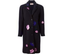 Mantel mit Blumenstickern