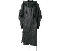 long wind-breaker coat