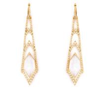 Lange 'Crystal Haze' Ohrringe aus Gelbgold und