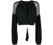 Cropped-Jacke aus Seide