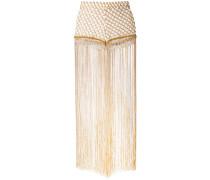 woven tassel trousers - women