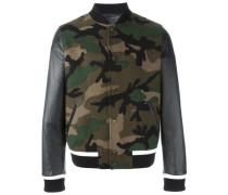 'Rockstud' Bomberjacke mit Camouflage-Muster
