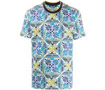 T-Shirt mit Kachel-Print