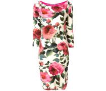 Schmales Kleid mit Rosen-Print