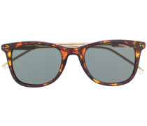 tortoiseshell-effect square sunglasses