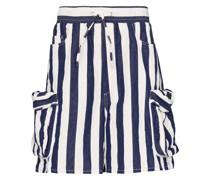 Gestreifte Cargo-Shorts