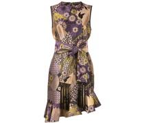 Asymmetrisches Kleid mit Blumenmuster