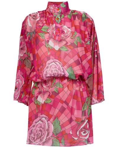 funel neck floral dress