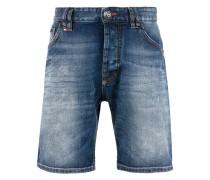 - Jeans-Shorts mit Logo-Schild - men