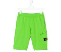 Shorts mit Logo-Patch - kids - Baumwolle - 14