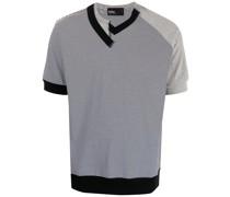 T-Shirt mit asymmetrischem V-Ausschnitt