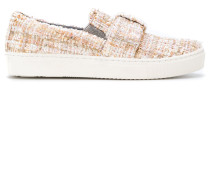 Slip-On-Sneakers in Tweed-Optik