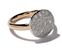 18kt 'Sabbia' Rotgoldring mit Diamanten