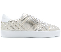 Check-quilted sneakers