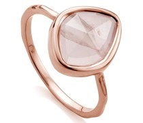 'RP Siren' Ring mit Rosenquarz