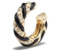 9kt Torsade Ear Cuff aus Gelbgold mit Diamanten