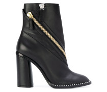 zipembellished ankle boots