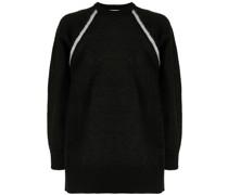 Zweifarbiger Intarsien-Pullover