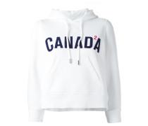 "CroppedKapuzenpullover mit ""Canada""Print"