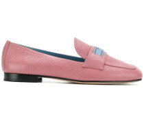 brand patch loafers