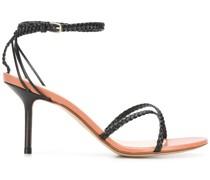 Sandalen mit geflochtenen Riemen, 80mm