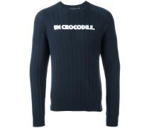 "Wollpullover mit ""Un Crocodil""-Print"