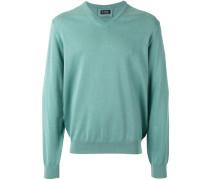Pullover mit V-Ausschnitt - men - Baumwolle