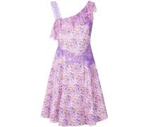 floral print lace trim dress