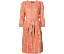 A.P.C. Gestreiftes Kleid mit Gürtel