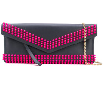 embellished clutch - women - Baumwolle/Leder