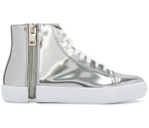 Metallische High-Top-Sneakers
