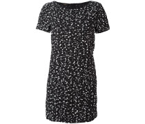 flocked effect dress