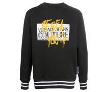 logo print knitted sweatshirt